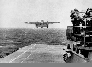B-25 Launching from USS HORNET